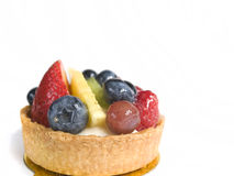 Fruit Tart. Dessert with Strawberries, Blueberries, Pineapple, and Kiwi royalty free stock photos