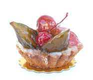 Fruit Tart. A glazed Fruit Tart stock photos