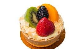 Fruit tart  assorted tropical fruits Stock Photography