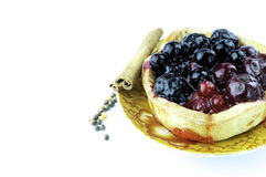 Fruit tart background Stock Images