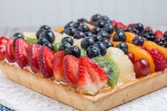 Fruit tart with berries Royalty Free Stock Photography