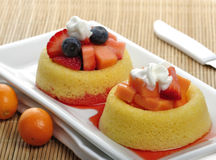 Fruit Tart Cakes Stock Photography