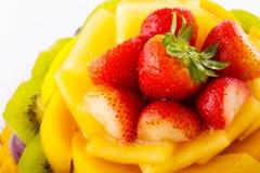 Fruit tart close up Royalty Free Stock Image