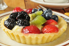 Fruit tart closeup Stock Photos