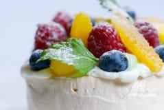 Fruit tart merangue Stock Photo