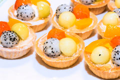 Fruit tart pastry Stock Image