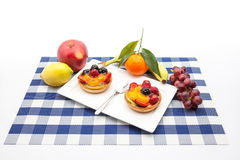Fruit tart on plate. On an plate of delicious fruit tart Stock Photography