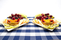 Fruit tart on plate. On an plate of delicious fruit tart Stock Photo