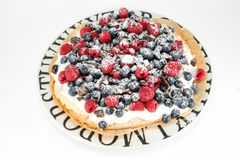Fruit tart on a plate Royalty Free Stock Image