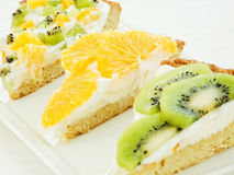 Fruit-tart slices Royalty Free Stock Photography