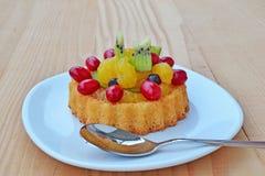 Fruit tart sponge cake Royalty Free Stock Photography