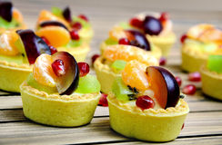 Fruit tart on table Royalty Free Stock Images