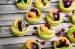 Fruit tart on table Stock Photography