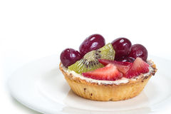 Fruit Tart In White Background. Photoof Fruit Tart In White Background stock image