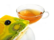 Free Fruit Tart With Tea Cup Royalty Free Stock Photography - 4116617