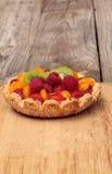 Fruit tart with a yellow custard Royalty Free Stock Photos