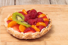 Fruit tart with a yellow custard Stock Photo