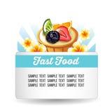 Fruit tartlet card Stock Photography