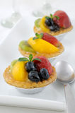 Fruit tartlets Stock Photos