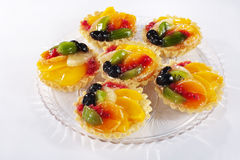 Fruit tarts Stock Photos