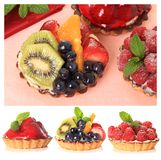 Fruit tarts Stock Photo