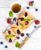 Fruit tarts with berries Stock Images