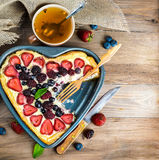 Fruit tarts with berries Stock Photo