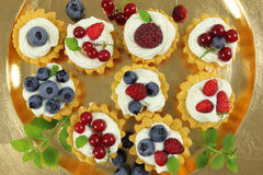 Fruit tarts Stock Image