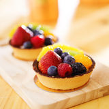 Fruit tarts shot with selective focus Royalty Free Stock Photo