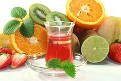 Fruit tea stock image