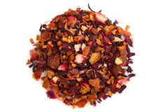 Fruit tea. On white background Stock Photo