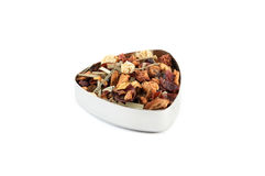 Fruit tea. Apple, lemon, lemongrass and chamomile flower tea mix Stock Photography