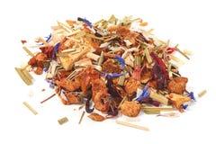 Fruit tea, close-up, isolated on white backgrund.  royalty free stock photos