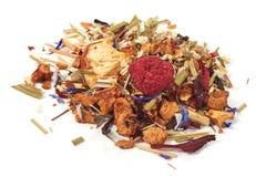 Fruit tea, close-up, isolated on white backgrund.  stock image