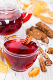 Fruit tea with cookies Royalty Free Stock Photography
