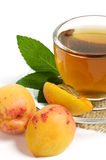 Fruit tea in cup Royalty Free Stock Photos
