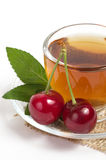 Fruit tea in cup Royalty Free Stock Images