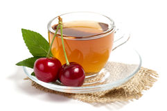Fruit tea in cup Royalty Free Stock Image