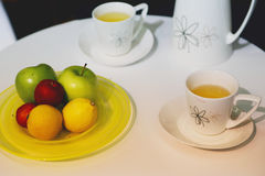 Fruit and tea Stock Image
