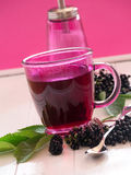 Fruit tea with elderberry Stock Photos