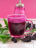 Fruit tea with elderberry Royalty Free Stock Photography