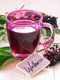 Fruit tea with elderberry Royalty Free Stock Images