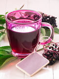 Fruit tea with elderberry Stock Photo