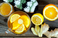 Fruit tea with ginger Royalty Free Stock Photography