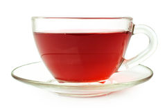 Fruit tea in glass cup Royalty Free Stock Photography