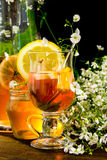 Fruit tea with lemon Royalty Free Stock Photo