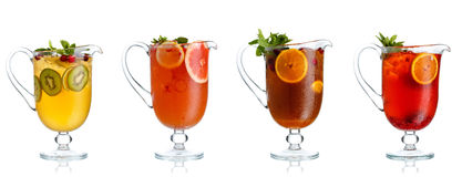 Fruit tea in pitcher Stock Images