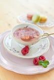 Fruit tea with raspberries Royalty Free Stock Photos