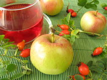 Fruit tea with rose hips and apples Royalty Free Stock Photo