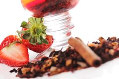 Fruit tea with strawberry Royalty Free Stock Photography